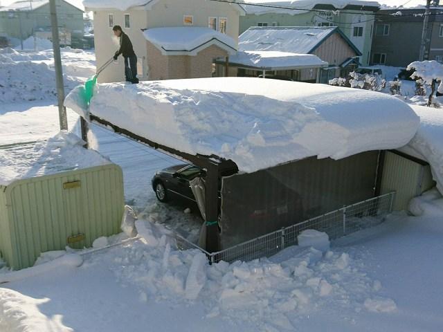 屋根の雪下ろし2018